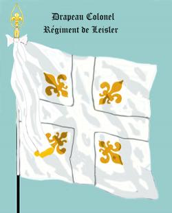 Le premier Royal Suédois, Drapeau colonel