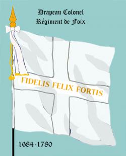 Régiment de Foix, Drapeau colonel