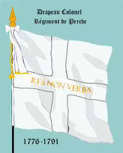 Régiment du Perche, Drapeau colonel