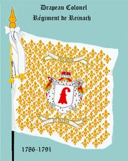 Régiment de Reinach, Drapeau colonel