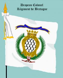 Régiment de Bretagne, Drapeau colonel
