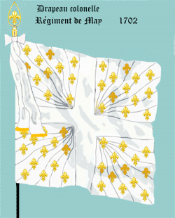 Régiment de May, Drapeau colonel
