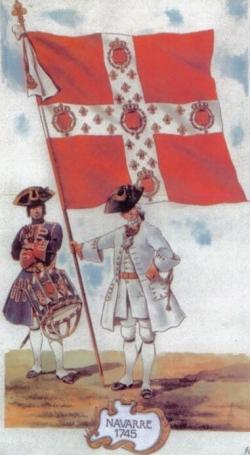 Navarre, Tambour et Porte-étendard en 1745