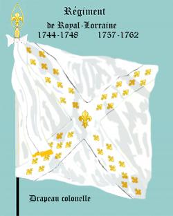 Régiment Royal Lorraine, Drapeau colonel