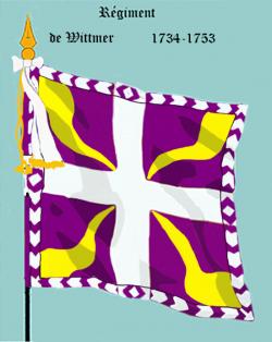 III : Régiment de Wittmer, premier drapeau
