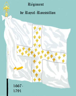 Régiment Royal Roussillon, Drapeau colonel