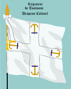 Régiment de Toulouse, Drapeau colonel