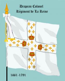 Régiment de la Reine, Drapeau colonel