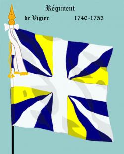 V : Régiment de Vigier, premier drapeau