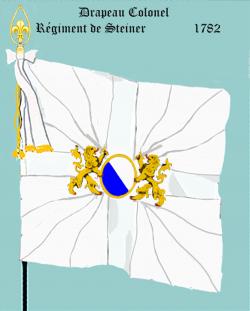Régiment de Steiner, Drapeau colonel