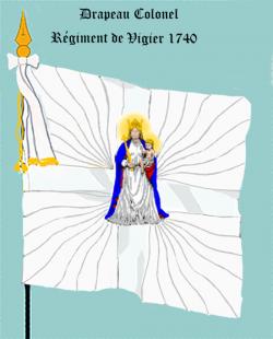 Régiment de Vigier, premier Drapeau colonel