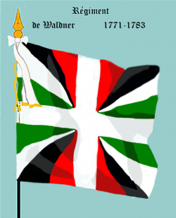 Régiment de Waldner, second drapeau