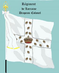 Régiment de Lorraine, Drapeau colonel