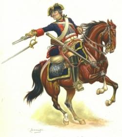 La cavalerie lourde : les cuirassiers...