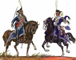 Les six régiments de Hussards