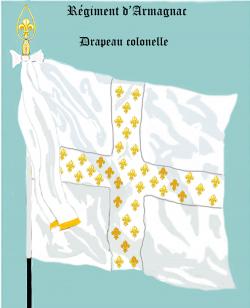 Régiment d'Armagnac, Drapeau colonel