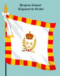 IV : Régiment de Greder, Drapeau colonel