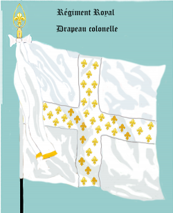 Régiment Royal, Drapeau colonel