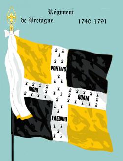 Régiment de Bretagne, 1740