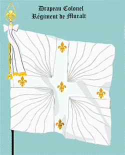 Régiment de Muralt, Drapeau colonel
