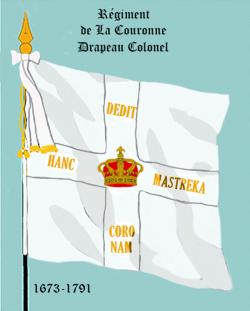 Régiment de la Couronne, Drapeau colonel