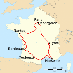 """1903 : Premier Tour de France, Tour de """"la France"""""""