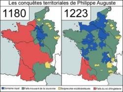 La France avant et après Philippe Auguste...