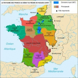 La situation au début du règne d'Hugues Capet...