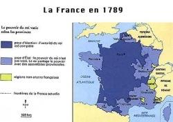 1789 : Pays d'élections, d'états, d'impositions