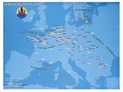 La Polynésie française à l'échelle de l'Europe...