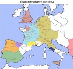 Ecoles en Occident au XIIème siècle...