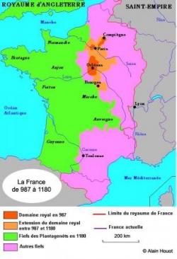 La France de 987 à 1180...