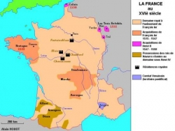 Agrandissements de la France au XVIème siècle...