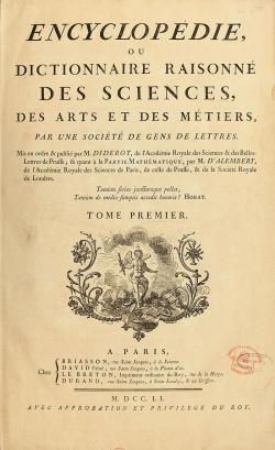"""""""Penser contre"""" les Encyclopédistes..."""