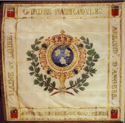 Drapeau de la Garde nationale d'Angers.