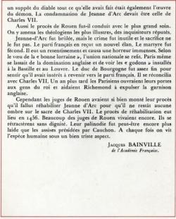 L'Ouvrage de Jeanne d'Arc (III)