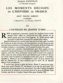 L'Ouvrage de Jeanne d'Arc (I)