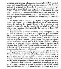 La Vérité sur le Siècle de Louis XIV (II)