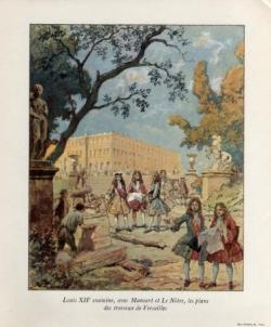 L'édification de Versailles...