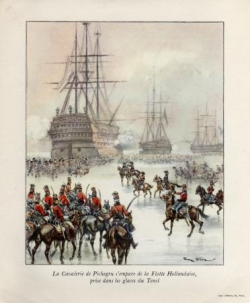 Pichegru s'empare de la flotte hollandaise