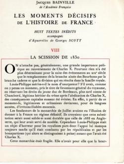 La Scission de 1830 (I)