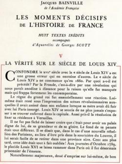La Vérité sur le Siècle de Louis XIV (I)
