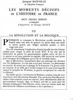 La révolution et la Belgique (I)