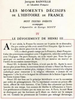 Le dévouement de Henri III (I)