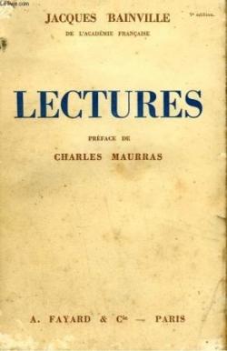 """1937 : Parution des """"Lectures""""...."""