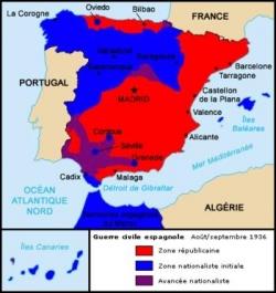 Prévision de la guerre civile espagnole...