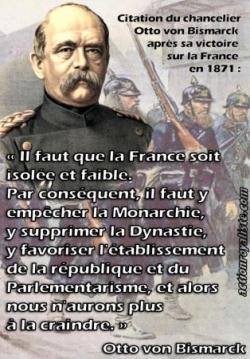 Pour affaiblir la France, la mettre en République.