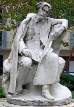 """La statue d'Alphonse Daudet, à Nîmes...""""..."""