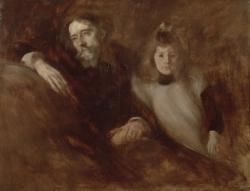 Alphonse et Edmée Daudet...