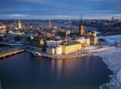 Vers 1895 : ...puis à Stockholm...